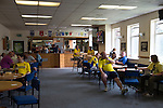 St Albans 0 Watford 5, 26/07/2014. Clarence Park, Pre Season Friendly. St Albans clubhouse and bar area before the Pre Season friendly between St Albans City and Watford from Clarence Park Stadium. Watford won the game 5-0. Photo by Simon Gill.