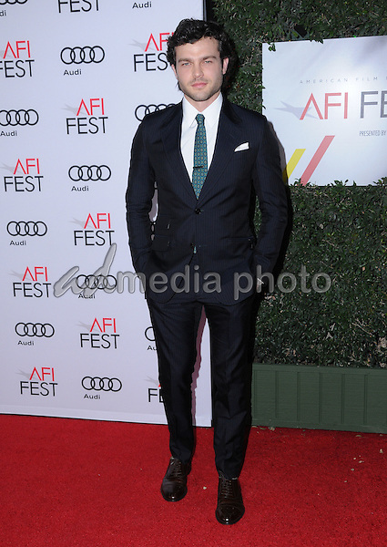 "10 November 2016 - Hollywood, California. Alden Ehrenreich. AFI FEST 2016 - Opening Night Premiere Of ""Rules Don't Apply"" held at TCL Chinese Theater. Photo Credit: Birdie Thompson/AdMedia"