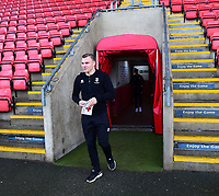 Lincoln City's Harry Anderson arrives at the ground<br /> <br /> Photographer Andrew Vaughan/CameraSport<br /> <br /> The EFL Sky Bet League Two - Crewe Alexandra v Lincoln City - Wednesday 26th December 2018 - Alexandra Stadium - Crewe<br /> <br /> World Copyright &copy; 2018 CameraSport. All rights reserved. 43 Linden Ave. Countesthorpe. Leicester. England. LE8 5PG - Tel: +44 (0) 116 277 4147 - admin@camerasport.com - www.camerasport.com