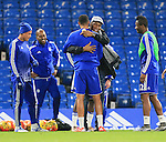 Chelsea's Didier Drogba greets his old teamates<br /> <br /> Barclays Premier League- Chelsea vs Sunderland - Stamford Bridge - England - 19th December 2015 - Picture David Klein/Sportimage