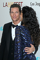 Matthew McConaughey and Camila McConaughey at the premiere of 'Magic Mike' at the closing night of the 2012 Los Angeles Film Festival held at Regal Cinemas L.A. Live on June 24, 2012 in Los Angeles, California. © mpi25/MediaPunch Inc. /NORTEPHOTO.COM<br />