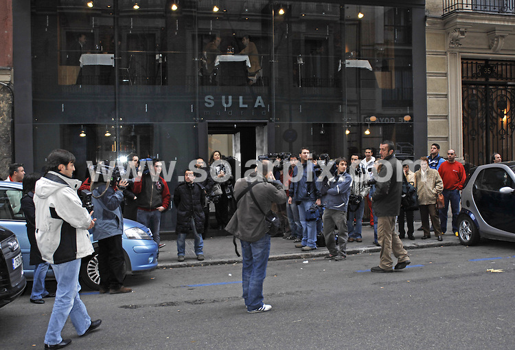 **ALL ROUND PICTURES FROM SOLARPIX.COM**.**WORLDWIDE SYNDICATION RIGHTS EXCLUDING SPAIN - NO PUBLICATION IN SPAIN**.David Beckham and all of the Real Madrid team went for lunch yesterday at the 'Sula Madrid' restaurant in Madrid,these pic show Cannavaro,Roberto Carlos,Higuain,Sergio Ramos and Van Nistelrooy leaving the restaurant...DATE:17_01_07            JOB REF:3237-RAP.**MUST CREDIT SOLARPIX.COM OR DOUBLE FEE WILL BE CHARGED**