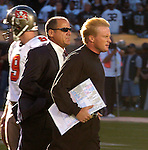 Buccaneers head coach Jon Gruden on Sunday, September 26, 2004, in Oakland, California. The Raiders defeated the Buccaneers 30-20.
