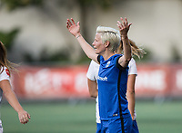 Seattle, WA - Saturday July 15, 2017: Megan Rapinoe during a regular season National Women's Soccer League (NWSL) match between the Seattle Reign FC and the Boston Breakers at Memorial Stadium.