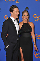 Jennifer Aniston &amp; Benedict Cumberbatch at the 72nd Annual Golden Globe Awards at the Beverly Hilton Hotel, Beverly Hills.<br /> January 11, 2015  Beverly Hills, CA<br /> Picture: Paul Smith / Featureflash