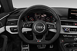 Car pictures of steering wheel view of a 2018 Audi S5 Premium-Plus 2 Door Coupe Steering Wheel