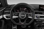 Car pictures of steering wheel view of a 2018 Audi S5 Premium-Plus 2 Door Coupe Steering Wheel