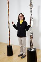 Portrait von Jamileh Weber / Chefin von der Jamileh Weber Gallery fotografiert am 8. Oktober 2011 an Waldmannstrasse 6 in Zuerich..Copyright © Zvonimir Pisonic