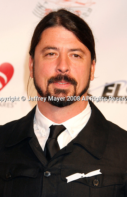 LOS ANGELES, CA. - February 06: Musician Dave Grohl  arrive at the 2009 MusiCares Person of the Year Tribute to Neil Diamond at the Los Angeles Convention Center on February 6, 2009 in Los Angeles, California.
