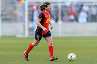 Bridgeview, IL, USA - Saturday, April 23, 2016: Western New York Flash midfielder Elizabeth Eddy (4) during a regular season National Women's Soccer League match between the Chicago Red Stars and the Western New York Flash at Toyota Park. Chicago won 1-0.