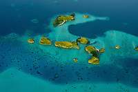 AERIAL OF THE ROCK ISLANDS PALAU, MICRONESIA, NEAR THE 70 ISLANDS