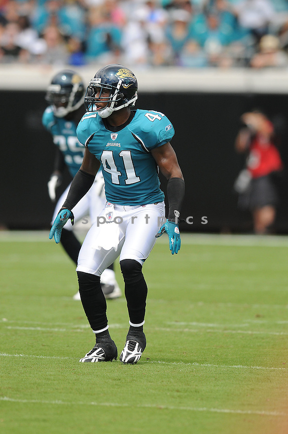 TYRON BRACKENRIDGE,of the Jacksonvile Jaguarss , in action during the Jaguars game against the Arizona Cardinalss on September 20, 2009 Jacksonvile, FL.  The Cardinals beat the Jaguars 31-17.