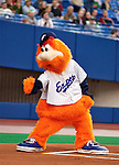 25 May 2003: Montreal Expos Mascot Youppi entertains fans prior to a game at Olympic Stadium in Montreal, Quebec, Canada. Mandatory Credit: Ed Wolfstein Photo