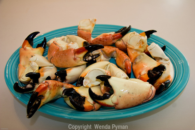 A plateful of stone crabs is always a big hit.