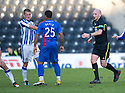 REFEREE BOBBY MADDEN MOVES IN AS KILMARNOCK'S DEAN SHIELS AND CALEY'S DAVID DAVIS CLASH