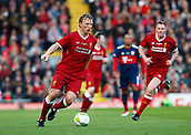 24th March 2018, Anfield, Liverpool, England; LFC Foundation Legends Charity Match 2018, Liverpool Legends versus FC Bayern Legends; Dirk Kuyt of Liverpool Legends on the ball  with Jamie Carragher in support