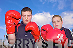 BOXING CLEVER: Listowel Boxing Club members Niall O'Sullivan and Donnacha Brosnan who won medals at the Munster Boy 1 finals on St Patrick's Day.