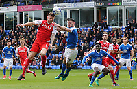 Fleetwood Town's Ashley Eastham gets the better of Peterborough United's Andrew Hughes and heads towards goal<br /> <br /> Photographer David Shipman/CameraSport<br /> <br /> The EFL Sky Bet League One - Peterborough United v Fleetwood Town - Friday 14th April 2016 - ABAX Stadium  - Peterborough<br /> <br /> World Copyright &copy; 2017 CameraSport. All rights reserved. 43 Linden Ave. Countesthorpe. Leicester. England. LE8 5PG - Tel: +44 (0) 116 277 4147 - admin@camerasport.com - www.camerasport.com