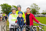 Annie Brosnan, Kieran Jones, Denis Jones and 2011Kerry Champion John Blackwell at the St Kieran's GAA Cycle Tour on Sunday starting in the  Desmonds GAA Grounds