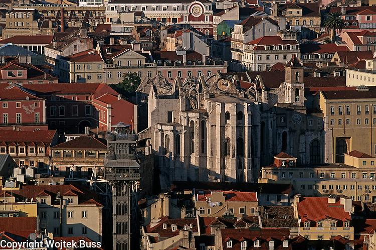 Portugal,Lisbon,Caramel church,escalator,Chiado,View from the  Castelo Sao Jorge