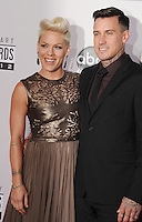 LOS ANGELES, CA - NOVEMBER 18: Pink and Carey Hart attend the 40th Anniversary American Music Awards held at Nokia Theatre L.A. Live on November 18, 2012 in Los Angeles, California.PAP1112JP313..PAP1112JP313..