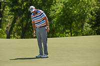 Marc Leishman (AUS) sinks his par putt on 9 during round 1 of the AT&T Byron Nelson, Trinity Forest Golf Club, at Dallas, Texas, USA. 5/17/2018.<br /> Picture: Golffile | Ken Murray<br /> <br /> <br /> All photo usage must carry mandatory copyright credit (© Golffile | Ken Murray)