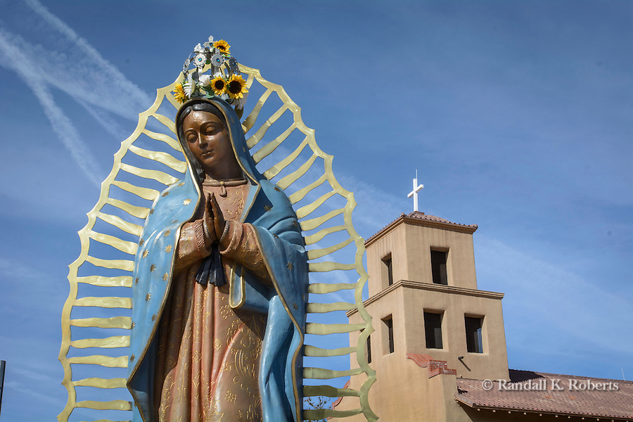 Our Lady of Guadalupe statue at its namesake Santuario de Guadalupe church, Santa Fe, New Mexico The church is the oldest shrine to Our Lady of Guadalupe in the United States.