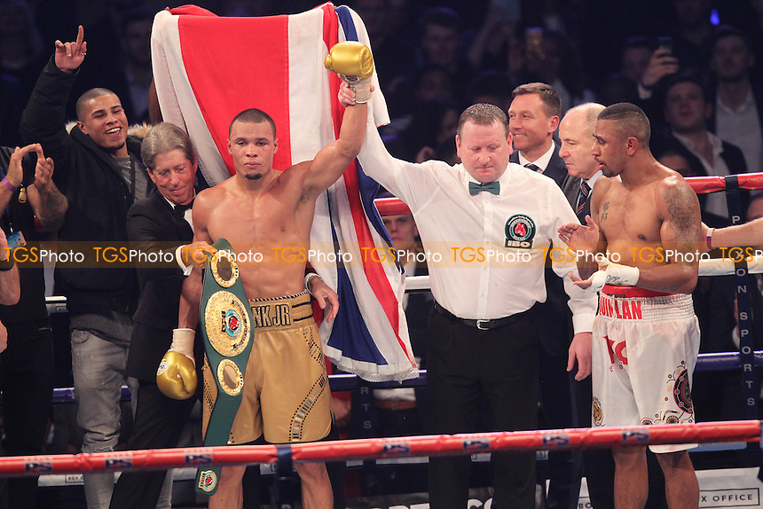 Renold Quinlan vs Chris Eubank Jr during a Boxing Show at Olympia on 4th February 2017