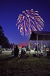 Fourth of July fireworks display, Tamworth, New Hampshire, USA