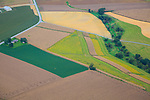 Aerial view of the Amish Farm Lancaster PA