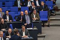 """30. Sitzung des Deutschen Bundestag am Freitag den 27. April 2018.<br /> Auf Antrag der rechtsnationalistischen """"Alternative fuer Deutschland"""", AfD, musste das Parlament ueber den Entwurf eines Gesetzes zur Aenderung Paragraph 130 des Strafgesetzbuchs (Volksverhetzung) diskutieren. Abgeordnete aller Fraktionen, ausser der Rechtsnationalisten, wiesen dies als Schritt zur Abschaffung des Paragraphen zurueck. <br /> Im Bild: Der AfD-Abgeordnete Kay Gottschalk bei einem lautstarken Zwischenruf.<br /> 27.4.2018, Berlin<br /> Copyright: Christian-Ditsch.de<br /> [Inhaltsveraendernde Manipulation des Fotos nur nach ausdruecklicher Genehmigung des Fotografen. Vereinbarungen ueber Abtretung von Persoenlichkeitsrechten/Model Release der abgebildeten Person/Personen liegen nicht vor. NO MODEL RELEASE! Nur fuer Redaktionelle Zwecke. Don't publish without copyright Christian-Ditsch.de, Veroeffentlichung nur mit Fotografennennung, sowie gegen Honorar, MwSt. und Beleg. Konto: I N G - D i B a, IBAN DE58500105175400192269, BIC INGDDEFFXXX, Kontakt: post@christian-ditsch.de<br /> Bei der Bearbeitung der Dateiinformationen darf die Urheberkennzeichnung in den EXIF- und  IPTC-Daten nicht entfernt werden, diese sind in digitalen Medien nach §95c UrhG rechtlich geschuetzt. Der Urhebervermerk wird gemaess §13 UrhG verlangt.]"""