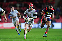 Tom Homer of Bath Rugby goes on the attack. European Rugby Challenge Cup match, between Bristol Rugby and Bath Rugby on January 13, 2017 at Ashton Gate Stadium in Bristol, England. Photo by: Patrick Khachfe / Onside Images