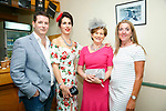 Enjoying the 10th anniversary Feale Rangers, hospitality event in the Huge Friel Stand on Ladies Day at Listowel Summer Race meeting on Sunday were Padraig Keane, Catherine keane, Noreen Houlihan, Claire Hore
