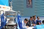 18.04.2015 Barcelona. Sorteo del cuadro de los jugadores del Barcelona open Banc Sabadell 63 trofeu Conde de Godo en la fan zone. Feliciano Lopez