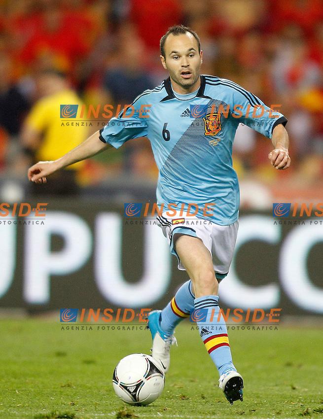 Spain's Andres Iniesta during friendly match.June 3,2012.(Insidefoto / Acero / Alterphotos) .Calcio Spagna Cina