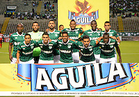 CALI - COLOMBIA -28-05-2016: Los jugadores de Deportivo Cali, posan para una foto durante partido entre Deportivo Cali y Rionegro Aguilas, por la fecha 20 de la Liga Aguila I-2016, jugado en el estadio Deportivo Cali (Palmaseca)  de la ciudad de Cali.  / The Players of Deportivo Cali, pose for a photo during a match between Deportivo Cali y Rionegro Aguilas, for the date 20 of the Liga Aguila I-2016 at the Deportivo Cali (Palmaseca) stadium in Cali city. Photo: VizzorImage  / Luis Ramirez / Staff.