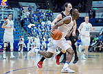 January 24, 2017:  Air Force guard, CJ Siples #2, drives the baseline during the NCAA basketball game between the San Diego State Aztecs and the Air Force Academy Falcons, Clune Arena, U.S. Air Force Academy, Colorado Springs, Colorado.  Air Force defeats San Diego State 60-57.