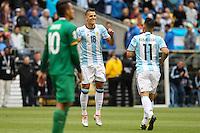 Seattle, WA - Tuesday June 14, 2016: Erik Lamela celebrates during a Copa America Centenario Group D match between Argentina (ARG) and Bolivia (BOL) at CenturyLink Field.