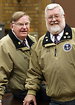 WATERBURY CT. 22 January 2018-012219SV01-From left, Bob Dorr and Jack Shea of the Waterbury Veterans Memorial Committee in Waterbury Tuesday.<br /> Steven Valenti Republican-American