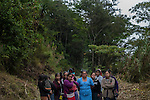 November 20, 2014<br /> A group of Mayan women of Santa Cruz de Barillas (Guatemala) prevents that the machines of the spanish company Ecoener enter to their territory. They have cut a path and has installed a resistance camp 24 hours, on november 20, 2014. The arrival of foreign companies to Latin America has provoked abuses of the rights of indigenous people and repression of their defense of the environment. In Santa Cruz de Barillas, Guatemala, the project of the Spanish hydroelectric Ecoener has caused murders, violent riots, the declaration of a state of siege by the army and the imprisonment of a dozen activists opposed to the project. They defend their territory and their river, called Cambalam. The river has for the Mayan people a special meaning and it is linked with their ancestors. A group of Mayan Indians, mostly women, has cut a path and has installed a resistance camp to prevent the enter of the company's machines. The prosecution has also provoked that some ecologists, with orders for their arrest, have been hidden for months in the Guatemalan jungle.<br /> <br /> In Coban, place located also in Guatemala, the hydroelectric Renace has been installed with threats to the population and false promises of development for the area. The company has also forbidden the access to the river for thousands of people and has no respected the close relationship of the Maya Indians with environment. Renace is a Guatemaltecan company but has given the contract of the  construction of the hydroelectric to the spanish company Cobra. As in Santa Cruz de Barillas, the project has divided the population and has caused riots. The project has very close families that live in extrem poverty. They are people that leave close to the hydroelectric but they don' t have electricity at home. ©Calamar2/ Pedro ARMESTRE