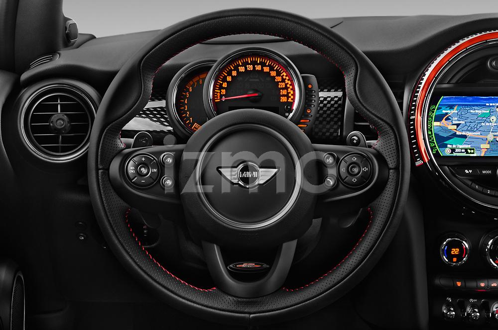 Car pictures of steering wheel view of a 2017 Mini MINI John Cooper Works 3 Door Hatchback