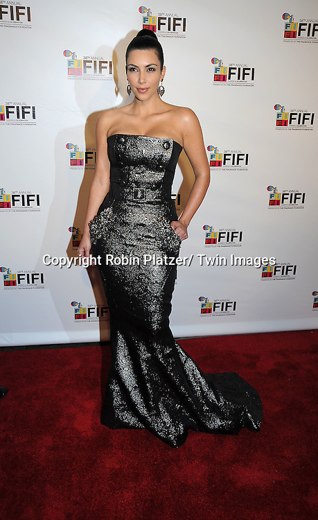 Kim Kardashian attending The 2010 FiFi Awards and Celebration on June 10, 2010 at The Downtown Armory in New York City