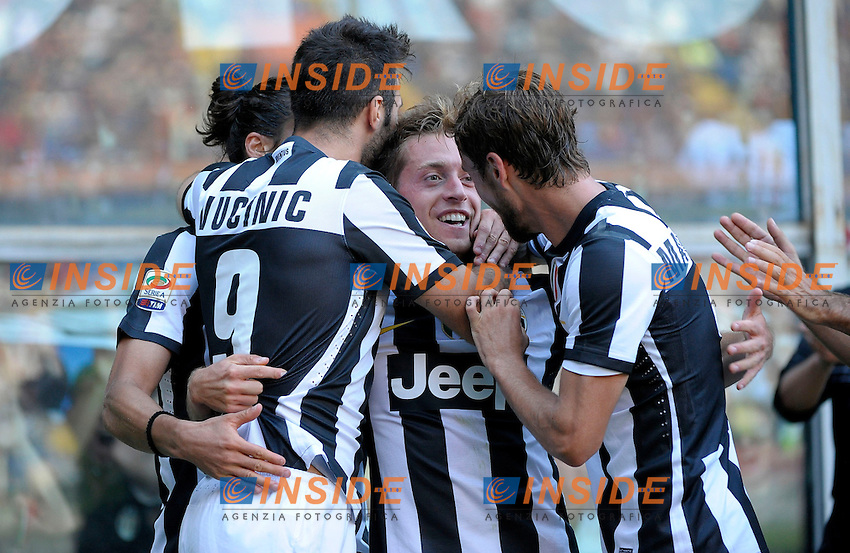 Emanuele Giaccherini esulta Juventus.Torino 15/9/2012 Stadio Marassi.Football Calcio 2012/2013 Serie A.Genoa Vs Juventus.Foto Federico Tardito Insidefoto.