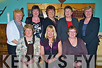 Enjoying the Kilcolman Womens group annual fundraising dinner in Kate Kearneys on Monday night were Kitty Murphy, Mary Moriarty, Marie Diggin, Betty O'Shea, Kay Griffin, Kate Moriarty, Shelia Griffin and Bridget Murphy, all Glenbeigh....