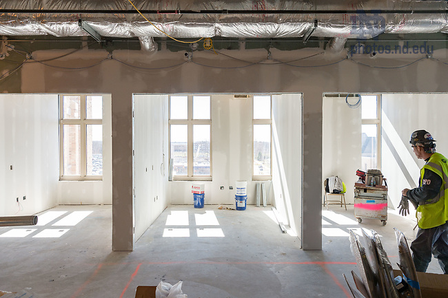 March 8, 2017; Duncan Student Center 5th floor under construction (Photo by Matt Cashore/University of Notre Dame)