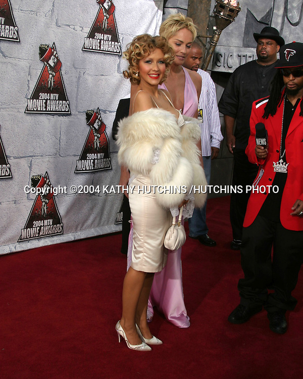 ©2004 KATHY HUTCHINS /HUTCHINS PHOTO.MTV MOVIE AWARDS 2004.CULVER CITY,CA.JUNE 5, 2004..CHRISTINA AGUILERA