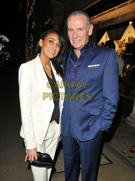 Jackie St Clair and Carl Michaelson at the Jean-David Malat: BritARTnia private view, Opera Gallery, New Bond Street, London, England, UK, on Tuesday 22 November 2016. <br /> CAP/CAN<br /> &copy;CAN/Capital Pictures
