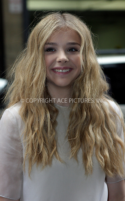 WWW.ACEPIXS.COM . . . . .  ....September 15 2011, New York City....Chloe Moretz arriving at the Calvin Klein Collection Spring 2012 fashion show during Mercedes-Benz Fashion Week on September 15, 2011 in New York City.....Please byline: NANCY RIVERA- ACEPIXS.COM.... *** ***..Ace Pictures, Inc:  ..Tel: 646 769 0430..e-mail: info@acepixs.com..web: http://www.acepixs.com