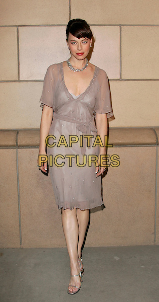 "MELINDA CLARKE.attends ""The O.C. Revealed"" presented by The Academy of Television Arts & Sciences held at Warner Brother Studios at The Steven Ross Theatre in Burbank, California, USA, March 21st 2005.full length beige grey chiffon dress belt belted ribbon bow clark.www.capitalpictures.com.sales@capitalpictures.com.©Debbie VanStory/Capital Pictures"