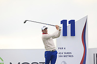 Haydn Porteous (RSA) on the 11th tee during Round 2 of the D+D Real Czech Masters at the Albatross Golf Resort, Prague, Czech Rep. 02/09/2017<br /> Picture: Golffile | Thos Caffrey<br /> <br /> <br /> All photo usage must carry mandatory copyright credit     (&copy; Golffile | Thos Caffrey)